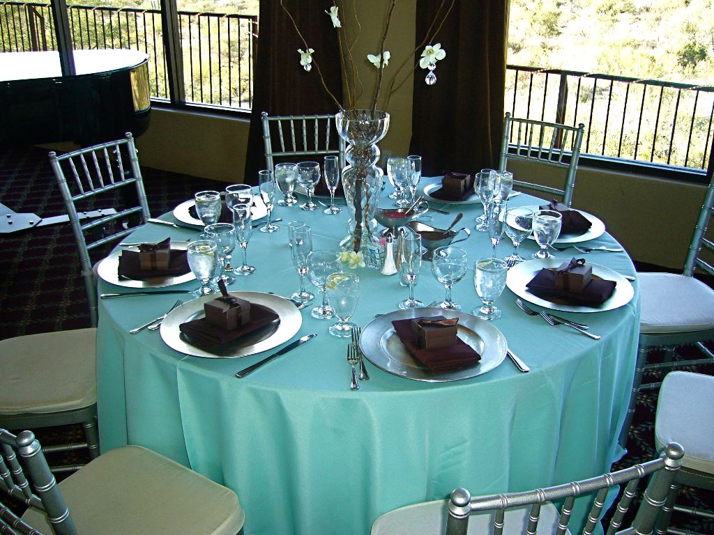 teal and chocolate wedding theme