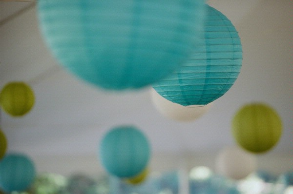 teal blue chines lamps