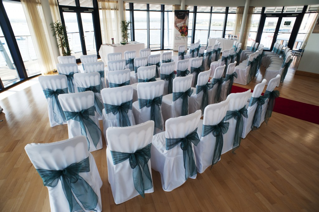 teal wedding chair covers
